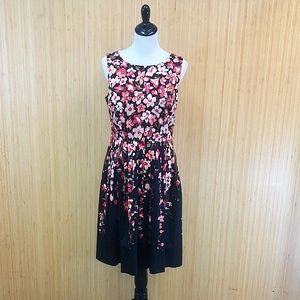 Talbots Flower Flared Dress